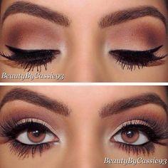 Fab Brautjungfern Make-up Make-up - Gorgeous wedding makeup - Eyeshadow Tips, How To Apply Eyeshadow, Eye Makeup Tips, Smokey Eye Makeup, Applying Eyeshadow, Makeup Ideas, Brown Eyeshadow, Makeup Goals, Smoky Eye