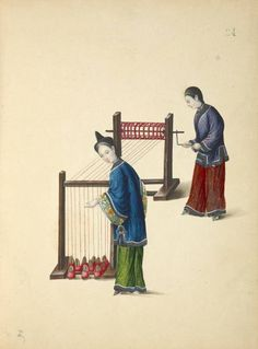 Chinese cultivation of silk worms and silk making