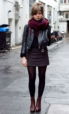 how to wear winter tights best outfits - Best Cute Outfit ideas Fall Winter Outfits, Autumn Winter Fashion, Rainy Day Outfits, Rainy Day Outfit For Work, Mode Outfits, Casual Outfits, Skirt Outfits, Dress Casual, Casual Clothes