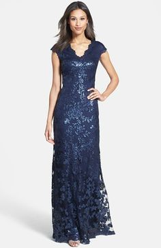 Tadashi Shoji Sequin Lace Gown available at #Nordstrom