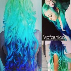The Hottest Hair Dye Colors and Ideas Inspired by Vpfashion Beauties colorful hair extensions blue ombre hair extensions for long and thick hair looks gorgeous blue color for extensions