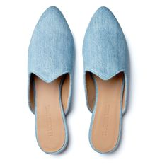 Le Monde Beryl's Light Blue Denim Venetian Mules are handcrafted in Italy. Each pair is made with an understated denim and a memory foam leather insole. Saved Items, Venetian, Blue Denim, Shopping Bag, Light Blue, Slippers, Pairs, Flats, Luxury