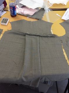 12: placing the right sides together sew the yoke and the pleat together with a 1cm seam allowance