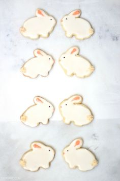 The cutest Easter Bunny sugar cookies! #recipe