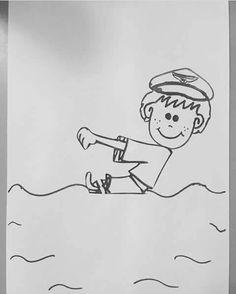 Okulöncesi Fish Crafts Kids, Sea Crafts, Toddler Crafts, Transportation Preschool Activities, Preschool Crafts, Christmas Crafts For Kids To Make, Summer Crafts, First Day Of School Activities, Easy Arts And Crafts