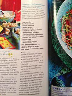 Celery, Carrot & Cabbage Salad