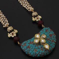 Beautiful Nepal stone with kundan work! $77.99 with free shipping worldwide!