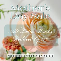 Quick reminder, it's almost Mother's Day! ... and what better way to say you care than a Lotus Wrap for yoga and meditation. During this time of incubation more and more of us are journeying inward with yoga and meditation. Inspire your Mom's practice with one of our luxury Lotus Wraps. A gift for life!  Save 15% on Lotus Wraps today thru May 8th. Order now and Expedite Shipping so she receives it in time.  Lots of love,  Kara * this is an Automated Discount ~ no coupon code needed. 15% is… How To Apply, How To Get, Say You, Yoga Meditation, Kara, Lotus, Coupon, Wraps, Inspire