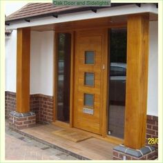 modern wooden front doors uk - Google Search