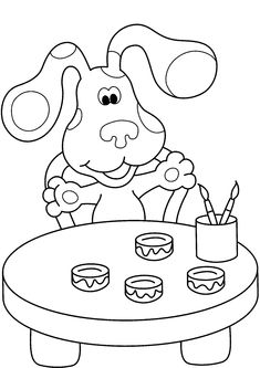 blues clues color page - Blues Clues Coloring Pages