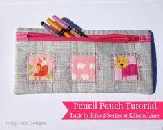 Pencil Pouch Pattern: Back to School at Ellison Lane - Ellison Lane