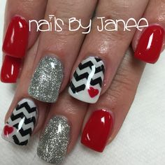 8 Best Red And Silver Nails Images On Pinterest In 2018 Nail