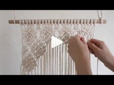 Bead loom patterns, Macrame tutorial and more Pins. Macrame Wall Hanging Patterns, Macrame Plant Hangers, Macrame Patterns, Loom Patterns, Macrame Design, Macrame Art, Macrame Projects, Creative Area, Macrame Curtain