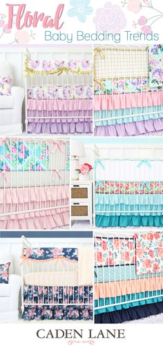 Take a look at some of the most popular floral crib bedding sets that will help make your baby girl's nursery perfect!