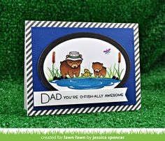 the Lawn Fawn blog: Lawn Fawn Intro: Dad + Me and Stitched Mountain Borders