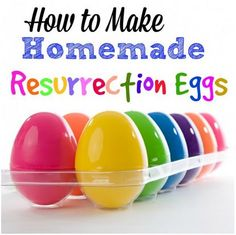 How to make Homemade Resurrection Eggs to teach young children the story of Easter. Includes Free Printables.