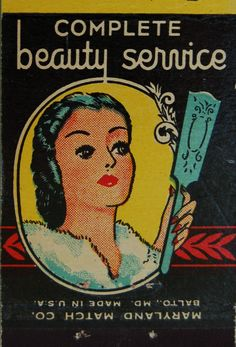 vintage matchbook: Harrison's Beauty Salon, Baltimore by coltera on Flickr.