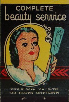 vintage matchbook: Harrison's Beauty Salon, Baltimore by coltera on Flickr.