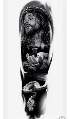 Gott Tattoos, Aa Tattoos, Tattoo Drawings, Jesus Tattoo, Arm Sleeve Tattoos, Forearm Tattoo Men, Upper Arm Tattoos Designs, Religion Tattoos, Gorilla Tattoo