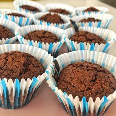 #healthymuffin #chocolatemuffin Healthy Chocolate Muffins, Whole Food Recipes, Breakfast, Fit, Desserts, Morning Coffee, Tailgate Desserts, Dessert, Postres