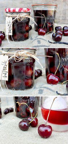 Cherry-Vanilla Infused Bourbon | www.floatingkitchen.net