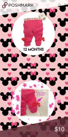 Minnie Mouse Hot Pink Leggings w/bows Details: Minnie Mouse Hot Pink Leggings w/tulle bows and rhinestones on legs  Style: Leggings Size: 12 months  Brand: Disney Baby  Condition: New with tag  Reasonable offers considered. For specifics please read closet information at the beginning of my closet.  Thank you! 🙂  Bundle and save! Discounts offered on orders including 3+ items. 🛒📦📭  Thank you for stopping by to check out my closet! 🤓 Disney Baby Bottoms Leggings