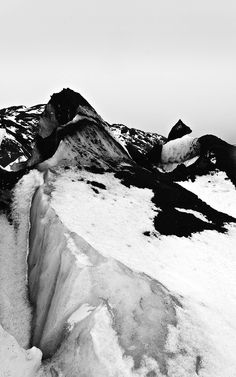 ~ Myrdalsjokull Glacier Iceland by Mark Wason ~ B&w Tumblr, All Nature, The Great Outdoors, Mother Nature, Mother Earth, Scenery, Destinations, Around The Worlds, Black And White