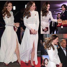 "garotasestupidas - Instagram.          Kate Middleton na premiere fé ""A Cat Street Named Bob""."