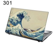 "TaylorHe 17/"" Laptop Skin Vinyl Sticker Decal Blue Dragon in Water Fantasy Animal"