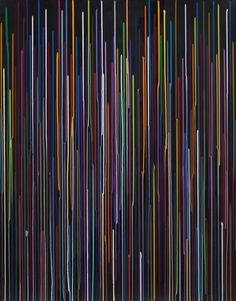 Large Black Staggered Lines Drawing, No. 3, 2011 | Ian Davenport