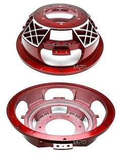 Speaker Sub Grills and Accs: 12 Red 4 Spoke Basket Frame BUY IT NOW ONLY: $50.0