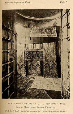 An old photo of the tomb of Sara, in Hebron