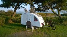 This lightweight bicycle micro camper made to be towed by bicycle is called The Wide Path Camper. And it's actually set to go into production and become available in early 2015 with a price of abou...
