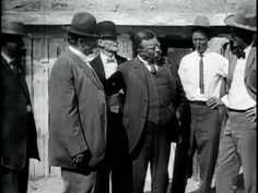 Summary Scenes of TR in a western setting; the man on TR's immediate left appears to be Albert B. Fall, Senator from New Mexico and four unidenti. Rough Riders, Theodore Roosevelt, Us History, Historical Sites, Nostalgia, Friends, Gilded Age, Image, Presidents