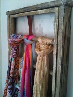 Scarf organizer - http://kandyoh.com/home/2012/decorating-ideas-for-spring/