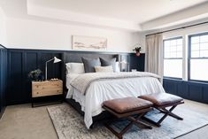 Studio McGee features The Shade Store's Luxe Linen Drapery and Madison Hardware in their two-day bedroom transformation