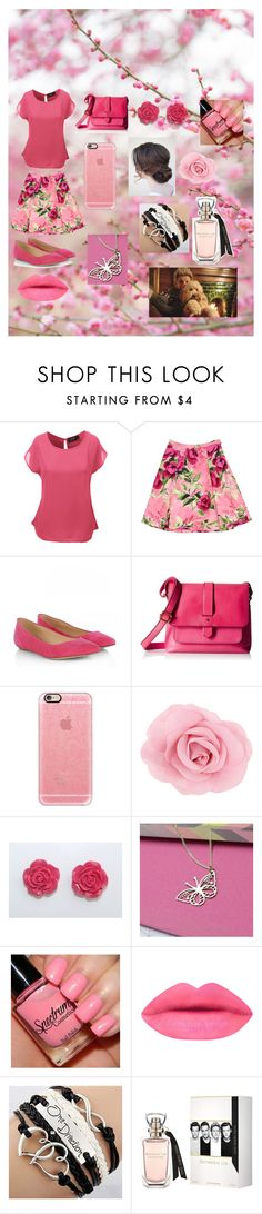 """""""Casual Pink"""" by alexhoran0720 on Polyvore featuring LE3NO, Love Moschino, Sergio Rossi, Casetify, Dowse, women's clothing, women, female, woman and misses"""