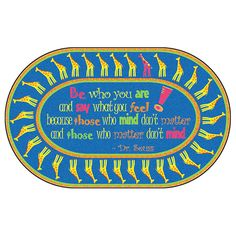 """Be Yourself Quote Rug - 6'W x 8' 4""""L at SCHOOLSin"""