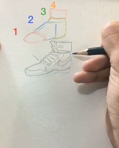 How to draw shoes - Art Sketches Cool Art Drawings, Pencil Art Drawings, Art Drawings Sketches, Drawings Of Men, Sick Drawings, Anatomy Sketches, Shoe Sketches, Drawing Lessons, Drawing Tips