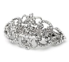 USABride Wedding Barrette, Vintage with Silver and Rhinestone 2031 -- Continue to the product at the image link.