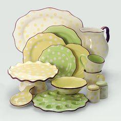 Paula Deen Dot Crazy dishes - love the dots!