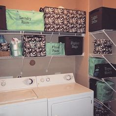 Organize your laundry room with Thirty-One. Add personalization to make things easy to find! www.shopwithbridgett.com