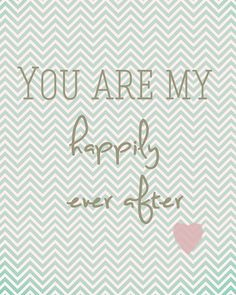 Happily ever after 8x10 print love newlywed marriage art. $14.99, via Etsy. Shabby chic home decor.