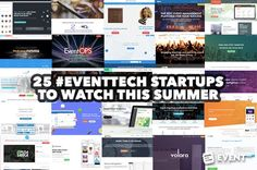 Eventtech is living a second life. Thanks to the injection of new life by VR/AR/AI new startups are taking on the event industry. Here are some fresh ones that are hot this summer. Marketing Poster, Event Marketing, Content Marketing, Most Stressful Jobs, Startup Branding, Startup Quotes, Start Up Business, Startups, Virtual Reality