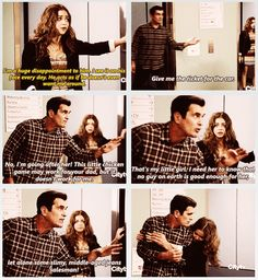 Hayley and Phil Dumphy - Modern Family Haley Modern Family, Modern Family Funny, Modern Family Quotes, Tv Quotes, Movie Quotes, Morden Family, Phil Dunphy, American Dad, Book Tv