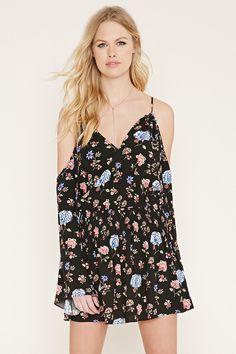 Floral Open-Shoulder Dress   Forever 21 - 2000153798