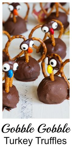 Turkey Oreo Truffles are easy and fun to make. With Oreos and cream cheese covered in milk chocolate everyone can get in on the Thanksgiving fun, gobble, gobble. Kids and adults alike will love making them. #butterandbaggage #thanksgiving #oreotruffle #turkey