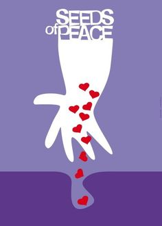 Seeds of peace - idea: joining text up with words, with hands releasing objects that symbolise the topic/concept in focus