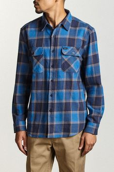BOWERY L/S FLANNEL Blue / Navy