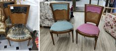 Nuevo tapizado de sillas clásicas. Wicker, Chair, Furniture, Home Decor, Upholstered Chairs, Rattan, Recliner, Home Furnishings, Stool